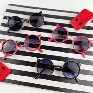 Set of 4 children's cat ear sunglasses